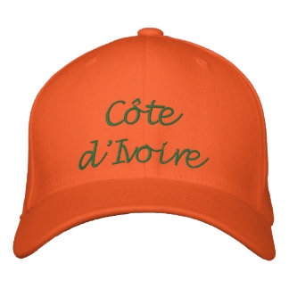 Côte d'Ivoire (Ivory Coast) Embroidered Hat