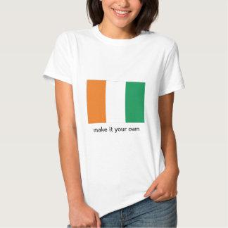 Cote d'Ivoire Ivory Coast flag tshirt