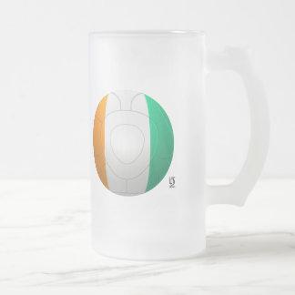 Côte d'Ivoire  - Les Éléphants Football Frosted Glass Beer Mug