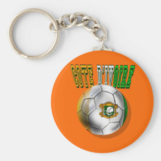 Cote divoire logo football fans gifts basic round button keychain