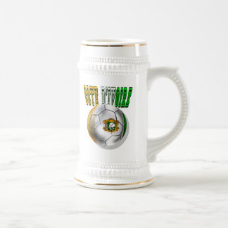 Cote divoire logo football fans gifts beer stein