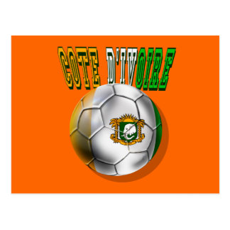 Cote divoire logo football fans gifts postcard