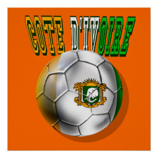 Cote divoire logo football fans gifts poster