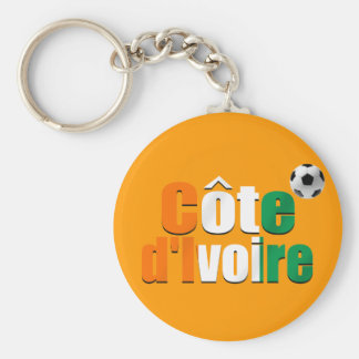 Côte d'Ivoire logo football fans soccer ball gifts Basic Round Button Keychain