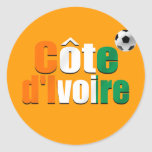 Côte d'Ivoire logo football fans soccer ball gifts Classic Round Sticker