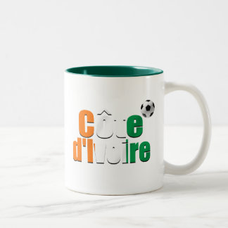 Côte d'Ivoire logo football fans soccer ball gifts Two-Tone Coffee Mug