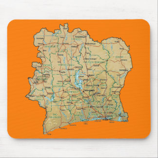 Cote d'Ivoire Map Mousepad