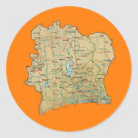 Cote d'Ivoire Map Sticker