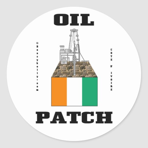 Cote D'Ivoire Oil Fields Sticker,Oil,Gas,Oil Rigs Classic Round Sticker