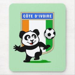 Mousepad with Cote D'ivoire Soccer Panda design