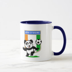 Combo Mug with Cote D'ivoire Soccer Panda design
