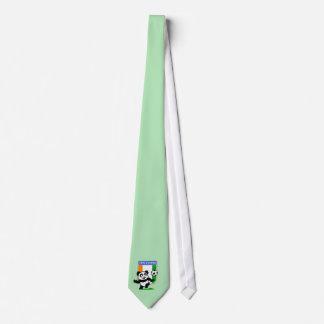 Cote D'IVoire Soccer Panda Neck Tie