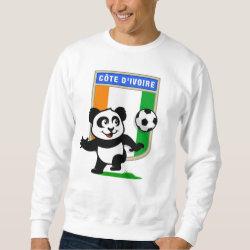 Men's Basic Sweatshirt with Cote D'ivoire Soccer Panda design