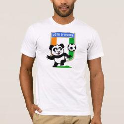 Men's Basic American Apparel T-Shirt with Cote D'ivoire Soccer Panda design