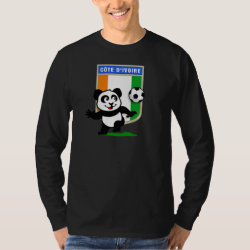 Men's Basic Long Sleeve T-Shirt with Cote D'ivoire Soccer Panda design
