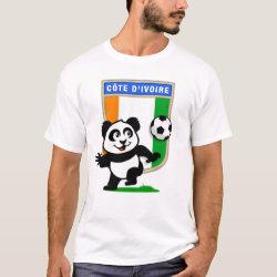 Men's Basic T-Shirt with Cote D'ivoire Soccer Panda design