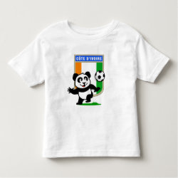 Toddler Fine Jersey T-Shirt with Cote D'ivoire Soccer Panda design