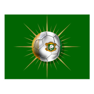 Côte D'Ivoire Soccer Starburst Postcard