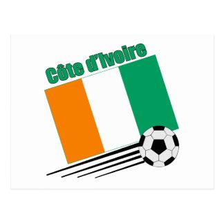 Cote d'Ivoire Soccer Team Postcard