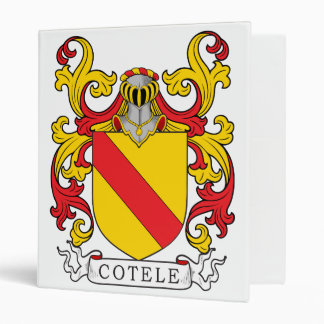 Cotele Family Crest Vinyl Binder