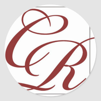 Coterie Rouge Classic Round Sticker
