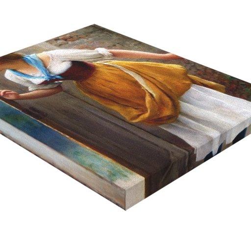 Cotilla de Eugene de Blaas- The Impresión En Lona Estirada