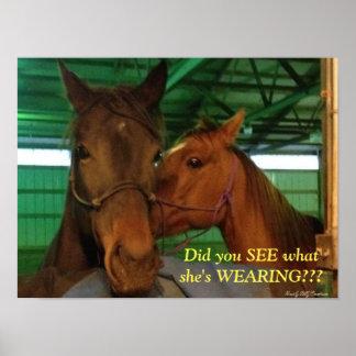 Cotilleo de los caballos póster