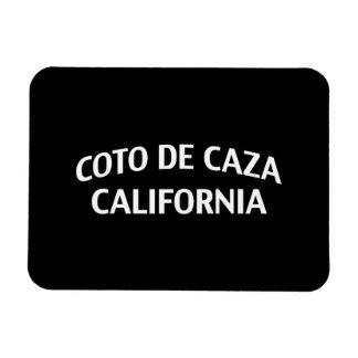 Coto de Caza California Imán Rectangular