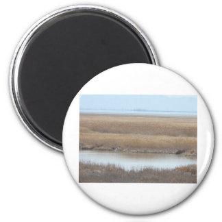 coto de los shorelands de Great Salt Lake Imán Redondo 5 Cm