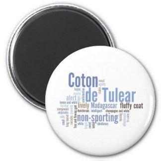 Coton de Tulear 2 Inch Round Magnet