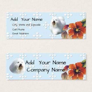 Coton De Tulear Blue Diamond and Autumn Flower Mini Business Card
