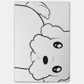 coton de tulear cartoon.png post-it notes