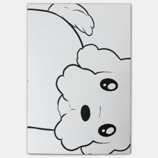 coton de tulear cartoon.png post-it® notes