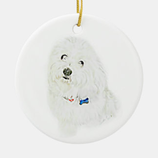 Coton de Tulear Ceramic Ornament