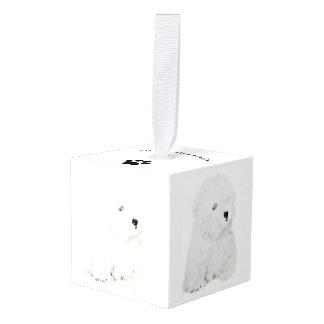 Coton de Tulear Cube Ornament
