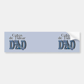 Coton de Tulear DAD Car Bumper Sticker