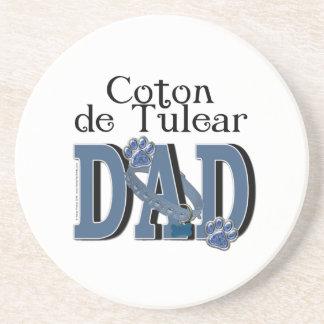 Coton de Tulear DAD Beverage Coasters