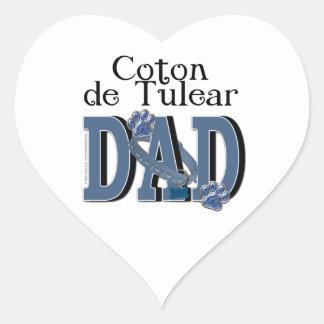 Coton de Tulear DAD Heart Sticker