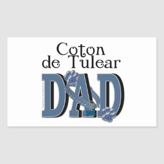 Coton de Tulear DAD Rectangular Sticker