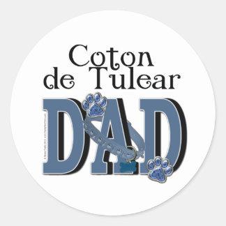 Coton de Tulear DAD Classic Round Sticker
