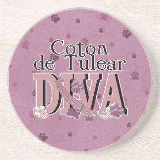Coton de Tulear DIVA Drink Coaster