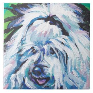 Coton de Tulear  Dog Fun Bright  Pop Art Tile