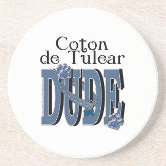 Coton de Tulear DUDE Beverage Coasters