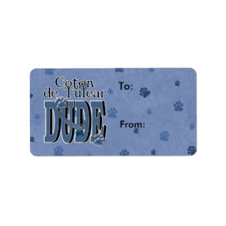 Coton de Tulear DUDE Label