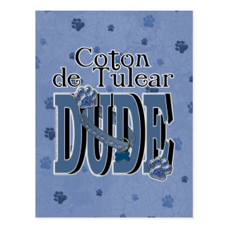 Coton de Tulear DUDE Postcard