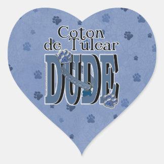 Coton de Tulear DUDE Heart Sticker