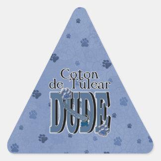 Coton de Tulear DUDE Triangle Sticker