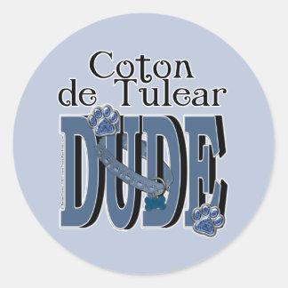 Coton de Tulear DUDE Classic Round Sticker