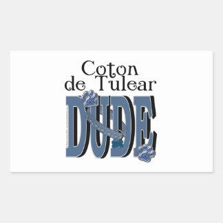Coton de Tulear DUDE Rectangular Sticker