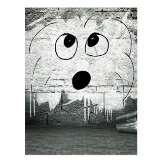 Coton de Tulear Graffiti Art Postcard